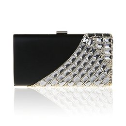 Wholesale Brown Sequin Evening Bag - Wholesale- 2016 Bridal Fashion Day Clutch Women Rhinestone Diamonds Evening Bags Wedding Purse Party Messenger Bag Sequins Clutch XA1544D
