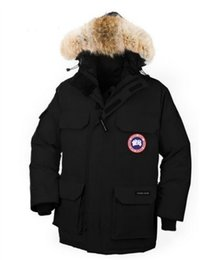 Wholesale Navy Blue Fur Coat - Luxury Brand Hot Sale Men's Fashion Down Jacket Expedition Winter Warm Thick Down jackets Coats Fur Collar Red black navy blue big size