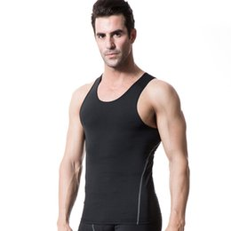 Wholesale Sexy Equipment - Wholesale- Men Quick Dry Tank Tops Wicking Breathable Tank Top Bodybuilding Equipment Fitness Singlets Vest