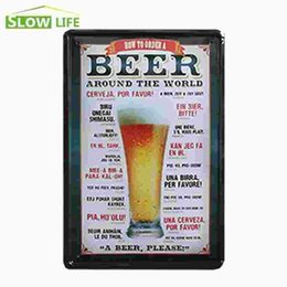 """Wholesale Order Beer Wholesale - How To Order A Beer Around The World Vintage Home Decor Tin Sign 8""""x12"""" Bar Pub Bar Wall Decorative Metal Sign Metal Poster 20170408#"""