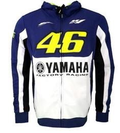 Wholesale Envío gratis Valentino Rossi M1 Factory Racing Team Moto Adulto Sudadera con capucha Sudadera deportiva Chaquetas Azul