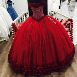 Wholesale Tull Ball - Sparkly Beaded Crystal Quinceanera Dresses 2017 Sweetheart Neck Puffy Tull For Sweet 18 Birthday Party Gowns Custom Made Hot Sale