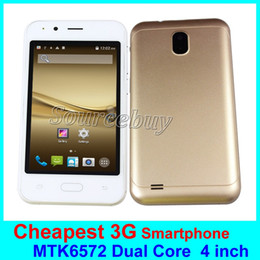 Wholesale Multi Sim Mobiles - Cheapest 4 Inch 3G Unlocked Smartphone X50 MTK6572 Dual Core Android 6.0 Dual SIM 512MB 4GB ROM Mobile Cell phone Multi Color