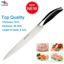 Wholesale Stainless Steel Fishing Knives - D051 Brand new stainless steel 7Cr17 as 440C top quality 8'' inch Fileting fish knife kitchen chef knife Slicing knife