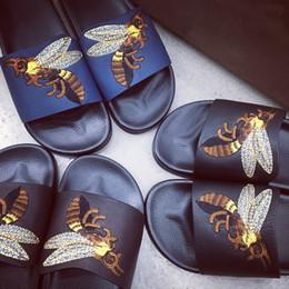 Wholesale High Beach Sandals - 2017 designer Slippers flip flops for men's causal women High quality leather Summer outdoor beach sandals slippers Size 38-46