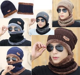 Wholesale Ladies Winter Knitted Hats Red - Men Warm Hats Beanie Hat 2016 Winter Knitting Wool Hat for Unisex Caps Lady Beanie Knitted Caps Women's Hats Outdoor Sport Warm