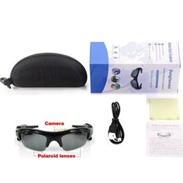 Wholesale Mp3 8gb Sunglasses - 8GB Mini Spy DV DVR Hidden Video Mp3 Player Camcorder Video Recorder Camera Bluetooth Sunglasses With Retail Package
