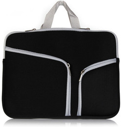 Wholesale 13 Laptop Sleeve Black - New 13 inch 15 inch Laptop Portable Felt Carrying Protective Sleeve Bag For Laptop Suitable Ipad Air Macbook Sleeve DHL PCC053