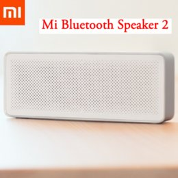 xiaomi square bluetooth speaker Promo Codes - Wholesale- New Original Xiaomi Mi Bluetooth Speaker 2 Square Box Stereo Portable High Definition Sound Quality Bluetooth 4.2 Play Music AUX