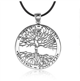 Wholesale Imitation Tree - New CHIC BEST SELLING ancient silver Tree Of Life Pendant Necklace totem gift girl women wedding Valentines Day love jewelry