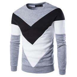 Wholesale Unique Fashion Clothes - New Fashion 2016 Autumn Mens Hoodies&Sweatshirt 100% Cotton Fleece Patchwork Causal Unique Print Mens Clothing Sportswear 9251