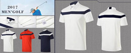 Wholesale Golf Men T Shirts - 2017 U Golf T-shirt men's summer dry fit breathable sports jersey 3 color OEM available