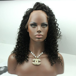 Wholesale Wig Black Curly Ponytail - 150% heavy density deep wave full lace wigs Rihana Style High Ponytail long curly lace front wigs for black women