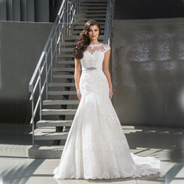 Wholesale Lace Wedding Gowns China - 2017 Sexy Mermaid Wedding Dresses China Cheap Merry Bridal Gowns Custom Made Summer Beach Garden Spring Sexy Long Vestido De Noiva