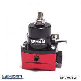 Wholesale regulator parts - EPMAN- High Performance car racing parts - 6AN JDM Adjustable Black-Red Fuel Pressure Regulator 0-150PSI in stock EP-7MGT-ZT