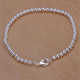 Wholesale Simple Elegant Gold Bangle - Wholesale- Bracelets & Bangles Silver Plated Woman Bracelets Elegant Lady Bracelets Bead Fashion Simple Bracelet Wholesale