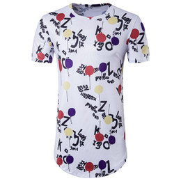 Wholesale Black Ballons - 2018 New Fashion Mens 3D letters Print With Cute Ballons T-Shirts Hip-hop Style Soft Casual t-Shirts Hot Design