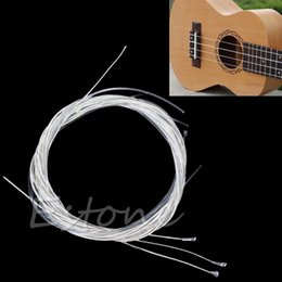 Wholesale Nylon Strung Guitar - Wholesale- 1 Set 6Pcs New Durable 39'' Silver Nylon Strings For Acoustic Classical Guitar