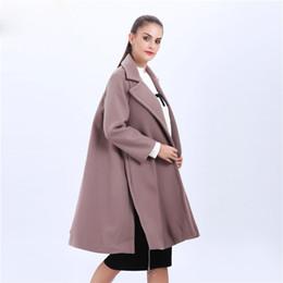 Mélanges de laine pour femmes Manteau d'hiver Femmes Veste longue Manteau en laine pour femme Ceinture poncho surdimensionnée Manteau en cachemire Manteau féminin Casaso ? partir de fabricateur