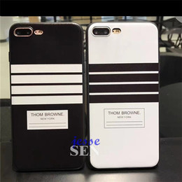 Wholesale Zebra Skin Wholesale - Newest Design Relief Embossment Case For Iphone 6 7 7plus Stripe Zebra Skin Marin Style Black And White Stripes Soft TPU Cases