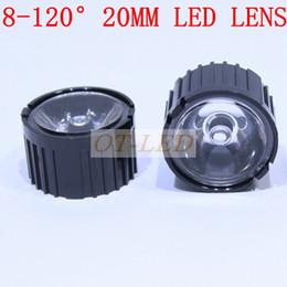 Wholesale Optical Holder - Wholesale-20x 20mm led optical lens with Black holder lens holder Angle 5 10 15 30 45 60 90 120 Degree for 1w 3w LED Light Lamp