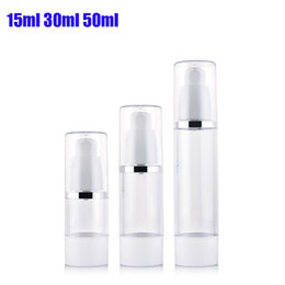 Wholesale Bottle Pump For Cosmetic Packaging - Free Shipping 300pcs lot 15ML airless bottle small plastic lotion bottle with airless pump used for Cosmetic Packaging