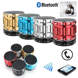 Wholesale Cheap Metal Buttons - Wholesale- Wireless Bluetooth Speaker Mini SUPER BASS Portable For Smartphone Tablet Red mini speakers cheap bluetooth speakers 3 colors