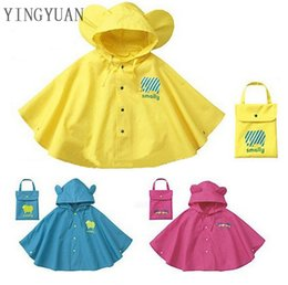 Wholesale Raincoats For Babies - MS2 Cartoon Kids Raincoat Waterproof Baby Fashion Design New Waterproof Kids Rain Coat For Children Raincoat Rainwear Rainsuit Kids