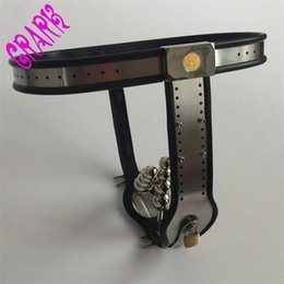 Wholesale stainless steel chastity belt woman - female T-type Chastity belt devices+Stainless Steel anal plug+ pussy plugs,fetish,sex shop,sex toys for woman