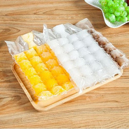Wholesale Disposable Shot Glasses - 100 Pcs disposable ice-making bags Ice Cube Tray Mold Makes Shot Glasses Ice Mould Novelty Gifts Ice Tray Summer Drinking Tool wn043