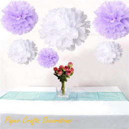 purple yellow baby shower decorations Coupons - Wholesale-34 Colors 20inch (50cm) Giant Tissue Paper Pom Poms Flowers Balls Hanging Wedding Baby Shower Birthday Party Decorations