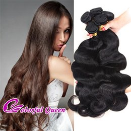 Wholesale Cheap Real Hair Pieces - Cheap 7A Brazilian Virgin Hair Weave Bundles 4pcs 400g Natural Real Brazilian Hair Extensions Body Wave Straight Kinky Curly Deep Loose Wave