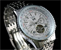 Wholesale Jaragar Quartz - Luxury JARAGAR Automatic Tuo Flywheel Skeleton Business Automatic Mechanical Movement Watch Men's Decoration Watch Stainless Steel Watchband