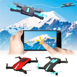 Wholesale Mini Helicopter Gift - JY018 ELFIE WiFi FPV Quadcopter Mini Dron Foldable Selfie Drone RC Drones with Camera HD FPV Professional RC Helicopter Gift 2 colors