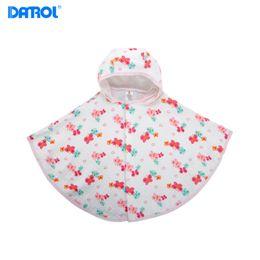 Wholesale Newborn Hooded Blanket - 1 piece lot Newborn 100% Cotton Baby Blanket With Hat Infant Rug Healthy Print Elastic Babies Shoulder Cape DR0183