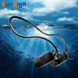 Wholesale bones work - Wholesale- Luxury HiFi Lossless Music 8GB MP3 Player Bone Conduction Waterproof 8G Players Work Well Under Water Headsets Protect Eardrum