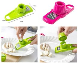 Wholesale Multi Grinding - Candy Color Garlic Press Multi-functional Grinding Garlic Mini Ginger Grinding Grater Planer Slicer Cutter useful in kitchen