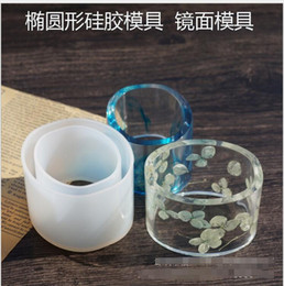 Wholesale Wholesale Jewelry Cast - 1Pcs Silicone oval Bracelet Mold Casting Mould For Resin Bangle Bracelet Jewelry Making Tools For Child