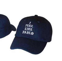 Wholesale Casual Life - I Feel Like Pablo Hat Cap Unisex Adjustable Fashion Leisure Baseball Hat The Life Of Pablo