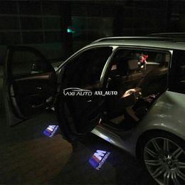 Luces de advertencia bmw online-2 unids LED de advertencia de la puerta del coche Laser Ghost Shadow Light para BMW M Performance Logo proyector para BMW E90 E60 F30 F10 F15