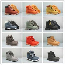 Wholesale Fashion Fur Fabric - 2018 High quality TBL Classic 10061 Leather Boots for Women Mens Camouflage Green Blue Fashion Retro Shoes Casual Snow Work Boots Size 36-46