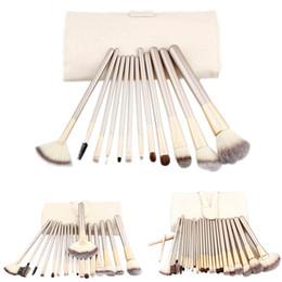 Wholesale Makeup Brush 18 Black - 12 18 24PCS Pro Makeup Brush Set Cosmetic Foundation Powder Brushes Kit