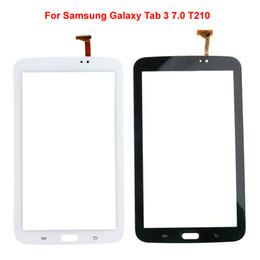 2019 painel de toque do digitalizador para a guia de samsung Painel de toque para a aba da galáxia de Samsung 3 tela de toque de 7,0 T210 com a substituição da lente de vidro do digitador desconto painel de toque do digitalizador para a guia de samsung