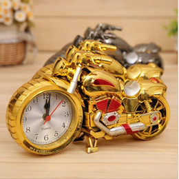 Wholesale Retro Modern Clocks - Motorcycle Alarm Clock Shape Creative Retro Gifts Upscale Furnishings Boutique Home Decorator cool unusual alarm clock 4 design KKA2074