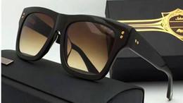 Wholesale Men S Fashion Polarized Sunglasses - new fashion sunglasses creator model square frame vintage retro style UV400 men sunglasses U S designer
