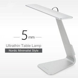Wholesale Study Night Lamp - 2017 Ultrathin Mac Style 200LM LED 3 Mode Dimming Touch Switch Reading Table Lamp Built in Battery Desk Lamp Soft Light Night Light