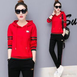 Wholesale Brand Tracksuits For Women - Autumn Casual women sport hoodies tracksuits fashion brand plus size running tracksuits for women long sleeve hood ladies tracksuits