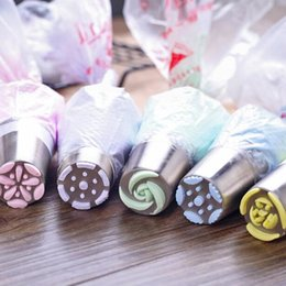 Wholesale Decorative Pipe - Stainless Steel Decorative Nozzle Pastry Kitchen Accessories Baking Tools Piping Nozzles DIY Biscuits Cake Pastry Nozzles Tips Decorating T