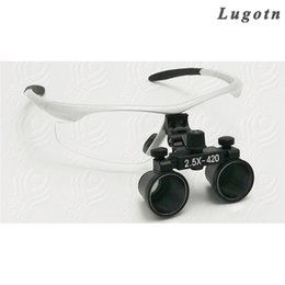 Wholesale reading magnifier glass - 2.5X times enlargement magnifying lens loupe glasses surgical operation magnifier adjustable sizable dental loupe