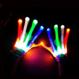 2019 bunte led-handschuhe LED-Blitz Handschuhe Bunte Glow Finger Leuchten Handschuh Weihnachten Halloween Party Konzert Dekoration Neuheit Spielzeug ZA3737 günstig bunte led-handschuhe